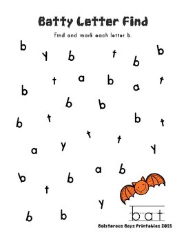 Batty PreK Printable Learning Pack