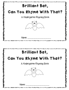 Batty Fall Rhyming Book
