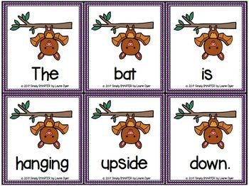 Batty Sentences:  LOW PREP Sentence Building Activity