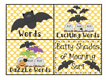 Batty Shades of Meaning Sort