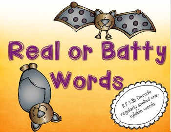 Batty Words (Real and Nonsense Words)