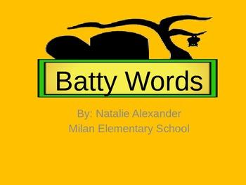 Batty Words: VC-CV practice