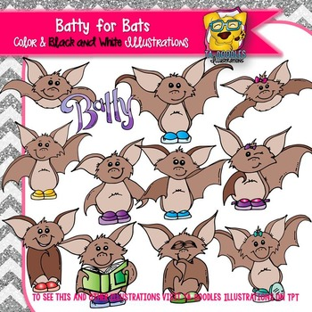 Batty for Bats Commercial Use Clipart