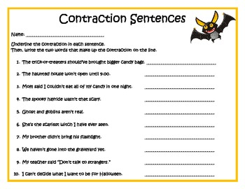Batty for Contractions