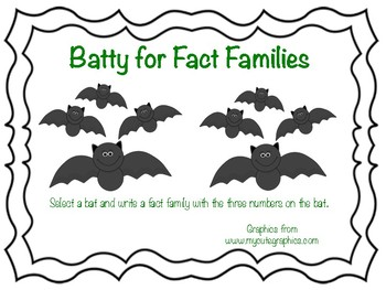 Batty for Fact Families