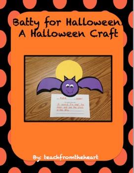 Batty for Halloween! A Halloween craft