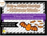FREE: Batty for Multiple Meaning Words - a Halloween Activity