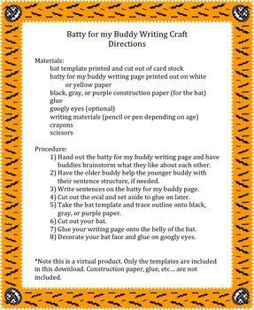 Batty for my Buddy Writing Craft