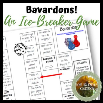 Bavardons!  A first day of school ice-breaker game
