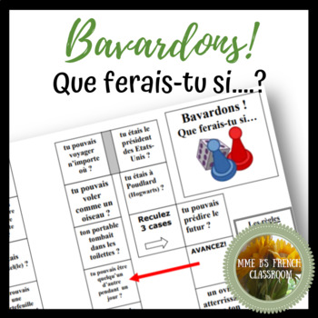 Bavardons!  Que ferais-tu si....? Game for practicing the conditional
