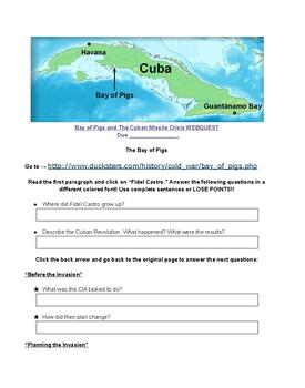 Bay of Pigs / Cuban Missile Crisis Webquest Handout