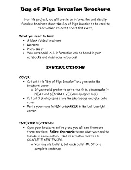 Bay of Pigs Informational Brochure Project!!!!