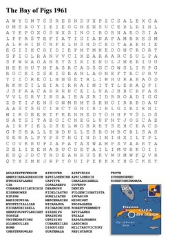 Bay of Pigs Word Search
