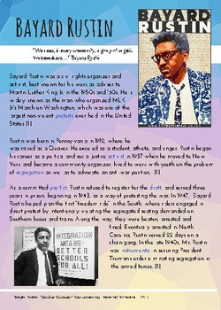 Bayard Rustin: Back History, LGBT History-Part of Multicultural Curriculum
