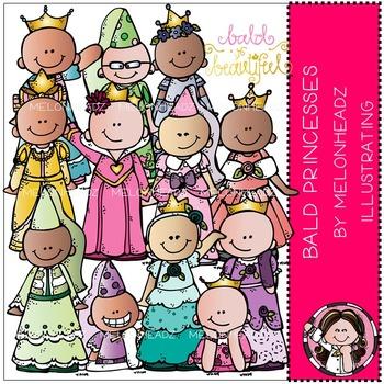 Baylee's Bald Princess clip art - COMBO PACK- by Melonheadz