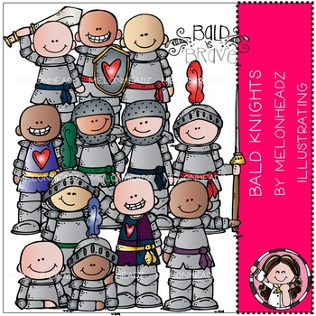 Baylee's Bald Knights clip art- by Melonheadz