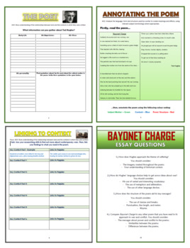 Bayonet Charge - Ted Hughes - Comprehension Activities Booklet!