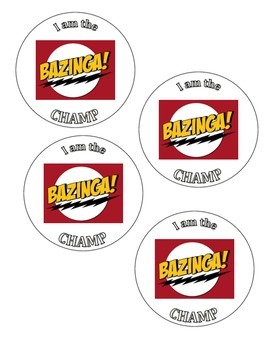 Bazinga Champ Badge