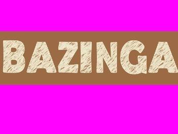 ***Bazinga Game*** Pink, brown, and lime