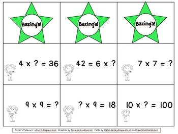Bazinga! Multiplication Game