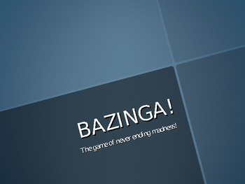 Bazinga Review Game