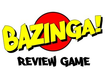 Bazinga Review Game PPT - make your own questions