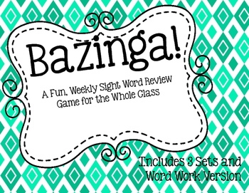 Bazinga! Sight Word Game