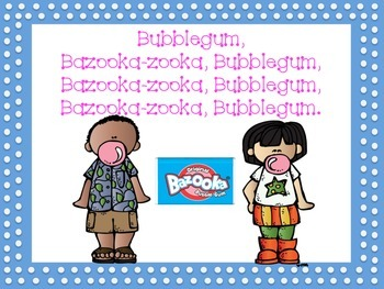 Bazooka Bubble Gum Song Book