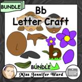 Bb Letter Craft Template Clipart BUNDLE