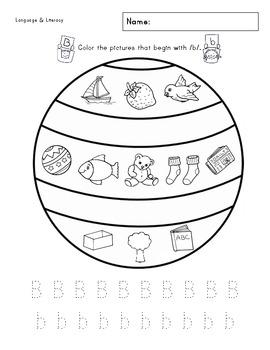 Bb Phonics & Printing Practice