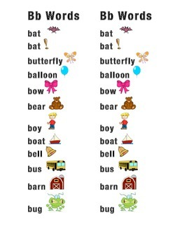 Bb Word Picture Sentence Helpers