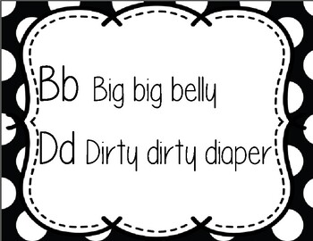 Bb and Dd reminder page