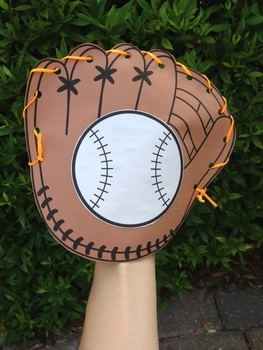 Bb is for Baseball Player! Baseball Cap and Lacing Glove Craftivity!