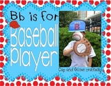 Bb is for Baseball Player! Baseball Cap and Lacing Glove C