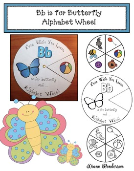Bb is for Butterfly Alphabet Wheel