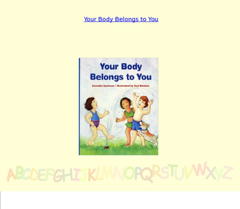 Bdoy Safety-Your Body is Yours