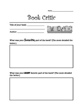 Be A Book Critic