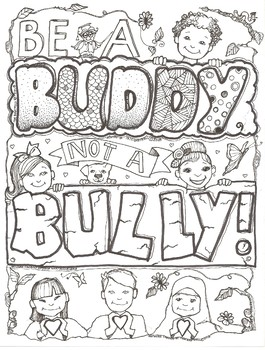 Bullying Coloring Sheets Bullying