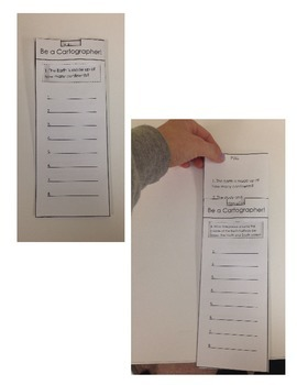 Be A Cartographer! Slide and Write Quiz Booklet