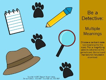 Multiple Meanings: Be A Detective in Speech-Language Therapy