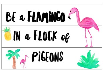 Be A Flamingo In A Flock Of Pigeons Light-box Slide