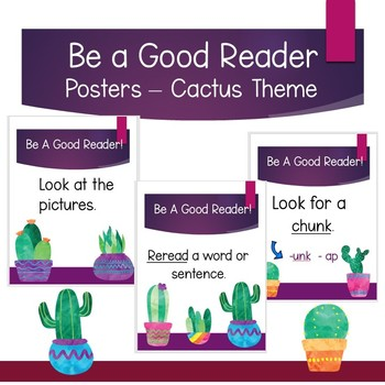 Be A Good Reader Posters - Cactus Theme