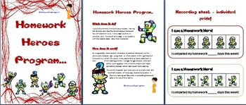 Classroom Management - 'Be A Homework Hero' - Initiative Reward Program