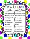 Be A Leader Motivational Poster Bright Design
