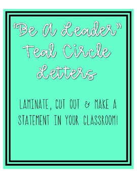 Be A Leader Statement Banner
