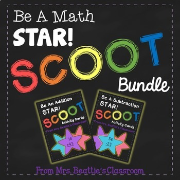 2-Digit Addition and Subtraction Scoot Bundle