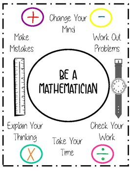 Be A Mathematician Poster