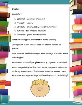 Be A Perfect Person in Just Three Days! ELA Novel Reading Study Guide