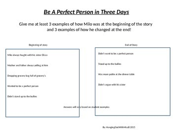 Be A Perfect Person in Just Three Days: Milo