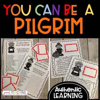 BE A PILGRIM! Real-Life Pilgrim Bios - Celebrate Thanksgiving Authentically/EASY